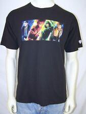 C Port and Company Black Short Sleeve Crew Neck CW Fox NBC T-Shirt Mens Sz Large