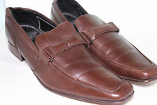 MARKS & SPENCER AUTOGRAPH Brown LEATHER SHOES SLIP ON LOAFERS 44 US 11 UK 10