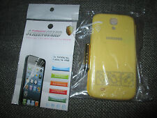 YELLOW FLIP CASE COVER FITS SAMSUNG GALAXY S4 SIII I9500 SCREEN PROTECTOR & PEN