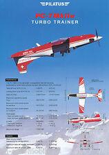 Prospetto aereo Pilato pc-7 MK II M Turbo Trainer, 2000, brochure prospectus
