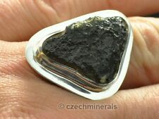 MOLDAVITE HUGE RING SILVER.925 - US 8 1/4 - 89.55ct RING265