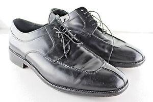 Cole Haan Black Calhoun Lace-Up Split Toe Derby Oxford Shoe sz 11 M EU 44