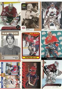 PATRICK ROY a lot of 9 DIFFERENTS CARDS INSERTS near mint   LOT 3        a