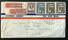 Ecuador 1930's air mail cover with telegraph stamps