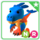SALE - ROBLOX ADOPT ME PETS- NEON DEINONYCHUS WITH RIDE. A GREAT LOOK