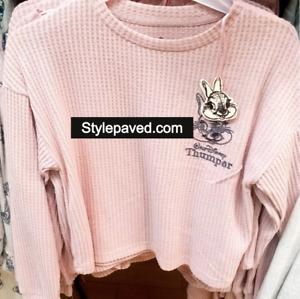 THOMPER Rabbit Bunny Pyjamas Top Primark Pink Soft Disney