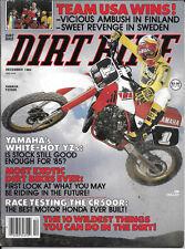 Dirt Bike magazine 1984, vintage motocross, VMX, YZ250, CR500R