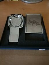 Camel Filters Lighter Ashtray and Cigarette Case set. New In Box