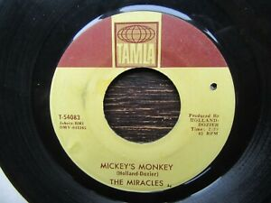 THE MIRACLES Mickey's Monkey/Whatever Makes You Happy US Tamla Northern Motown