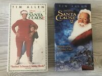 Lot of 2 Disney The Santa Clause 1 & 2 Tim Allen VHS Movies