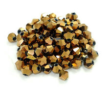 200pcs bicone crystal glass loose 4mm beads 50 Colors