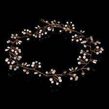 Elegant Bridal Wedding Rhinestone Faux Pearl Hair Band Clip Headband Jewelry