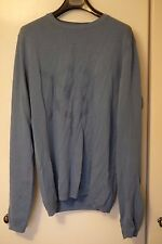 Zara Man Blue Sailor Ships Wheel Jumper Knitwear. Medium M.
