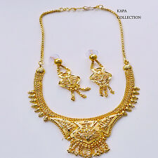 kapa 3Pc Indian Bollywood Gold Plated Fashion Jewelry Necklace Earring Set