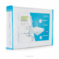 LUCID Cotton Bamboo Fitted Mattress Protector Cover - 100 Percent Waterproof