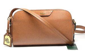 Lauren Ralph Lauren Women's Tate Crossbody Bag Leather choose your color NEW