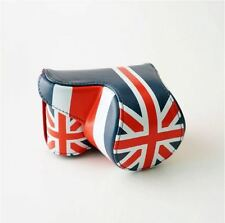 Union Jack Camera Case Cover Pouch Bag + Neck Strap For Sony A5000 A5100 A6000