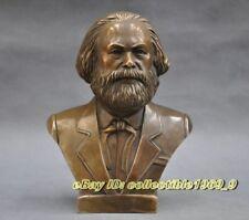 "German Great Communist Carl Marx bust bronze statue 7"""