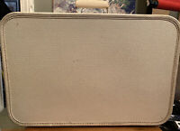 """Vintage Cary On Starline Luggage Cream Color Hard Shell Suitcase 1950's 20""""13""""6"""""""