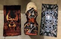 Cache cou / masque de protection - ( Tête de mort Skull Chopper ski moto vélo )
