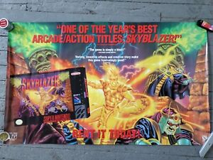 Skyblazer SNES Video Game Promotional Poster RARE 1994 Sony Columbia