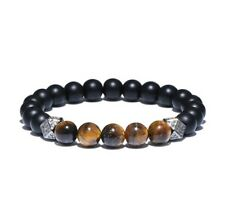 New Natural Stone Geometric  Charm Beaded Bracelet For Men Luxury Jewellery UK