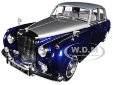1960 BENTLEY S2 SILVER/BLUE 1/18 DIECAST MODEL CAR BY MINICHAMPS 100139954