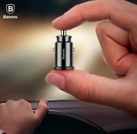 Baseus Mini Dual USB Car Charger For Mobile Phone Tablet GPS 3.1A Fast Adapter