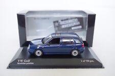 1:43  VW VOLKSWAGEN GOLF 3 III 1H MYSTIC BLAU BLUE 1993 MINICHAMPS 400055501 GTI