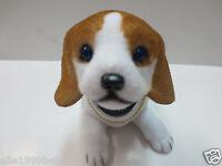 One Puppy Dog /White Yellow Spot Beagle Dog / Bobbing / Bobble Head Doll / Toy