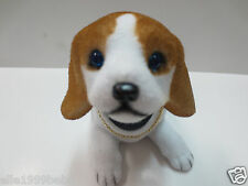 One Puppy Dog /White Yellow Spot Beagle Dog / Bobbing / Bobble Head Doll / Toy