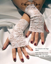 Pair of Fingerless Lace Gloves - White - Pick your size