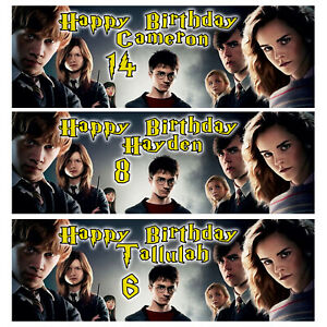 HARRY POTTER Personalised Birthday Banner - Harry Potter Birthday Party Banner