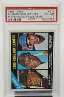 1966 Topps HOF Stars WILLIE MAYS, McCovey, Billy Williams Card PSA 6 EX-MT