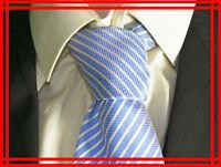 ADRIANO JACOMETTI UOMO NEUF Superbe cravate bleu clair tie corbata tye