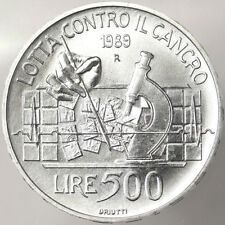 28bf1df112 500 LIRE 1989 LOTTA CONTRO IL CANCRO ITALIA Ag #342