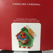 Hallmark 2020 Caroling Cardinal Ornament New Ship Free Musical Birdhouse