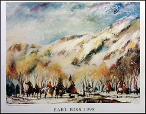 """Earl Biss """"Red Lodge With The Melting Of the Spring Snow"""" poster FREE SHIPPING!!"""