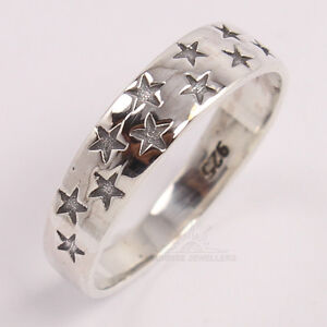 Star Designer Beautiful Ring All Sizes 925 Solid Sterling Silver PLAIN No Stone