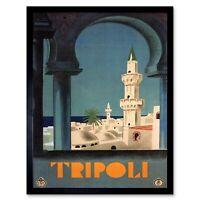 TRAVEL TRIPOLI LIBYA MEDINA MOSQUE MINARET ITALY VINTAGE ADVERT POSTER 2539PY
