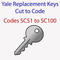 Yale SC51-100 Replacement Keys Cut to Code for Filing Cabinets, Lockers, Desks