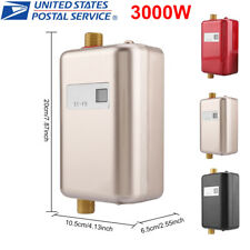 3000W Tankless Instant Electric Hot Water Heater Kitchen Bathroom Shower 110V US