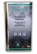 MILLACO Basecoat & 2k Car Automotive Paint Thinner 5 Litre