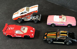 1971 Matchbox Orange Peel '74Dodge Charger '79 Vette Superfast '85 Countach READ