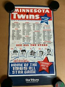 Minnesota Twins 1965 All Star Game Reproduction Poster Mickey Mantle Killebrew