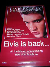 ORIGNAL ELVIS PRESLEY PROMOTIONAL POSTER - 50 GREATEST HITS