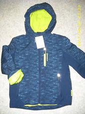 Gefütterte blau gemusterte Winter/Softshelljacke Gr.122 C&A NEU!!