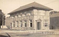 G98/ Bellevue Michigan RPPC Postcard c1910 Citizens Bank Building