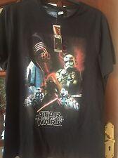 STAR Wars la forza si sveglia Nero T shirt Nuovo con etichette