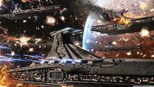 Star wars clone wars republic venator fleet Silk Poster Wallpaper 24 X 13 inch